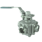 3-WAY BUTT WELD END BALL VALVE